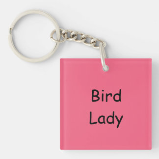 Bird Lady Key Chain, UV resistant Keychain