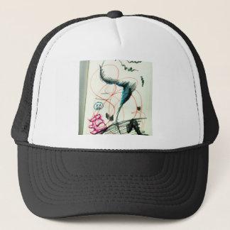 Bird Line and the Dancing Pen Trucker Hat