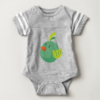 bird looking at the sky baby bodysuit