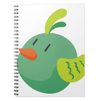 bird looking at the sky notebooks