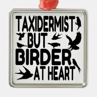 Bird Lover Taxidermist Silver-Colored Square Ornament