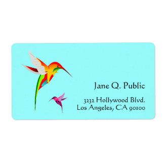 Bird Lovers Hummingbirds Shipping Label