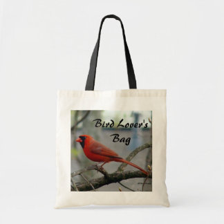 """Bird Lover's"" Male Cardinal Tote Bag"