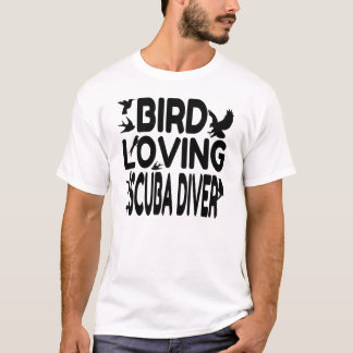 Bird Loving Scuba Diver T-Shirt