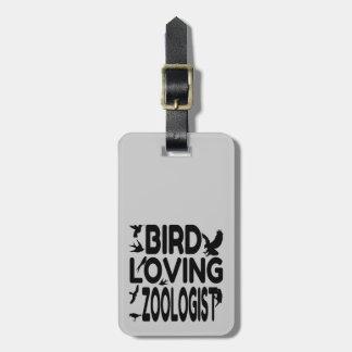 Bird Loving Zoologist Luggage Tag