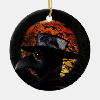 Bird-man Ceramic Ornament