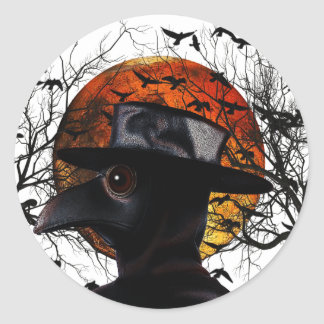 Bird-man Classic Round Sticker