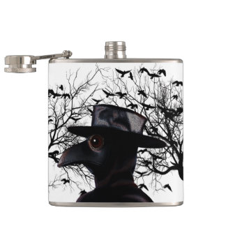 Bird-man Hip Flask