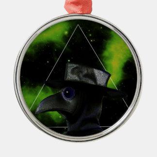 Bird-man Silver-Colored Round Ornament