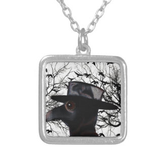 Bird-man Silver Plated Necklace