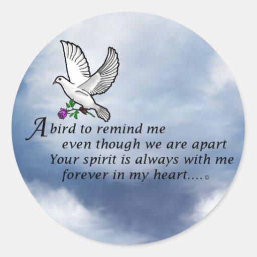 Bird Memorial Poem Sticker