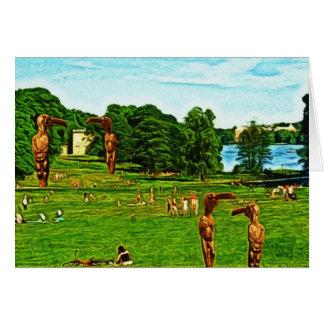 Bird Men in a Public Park Card