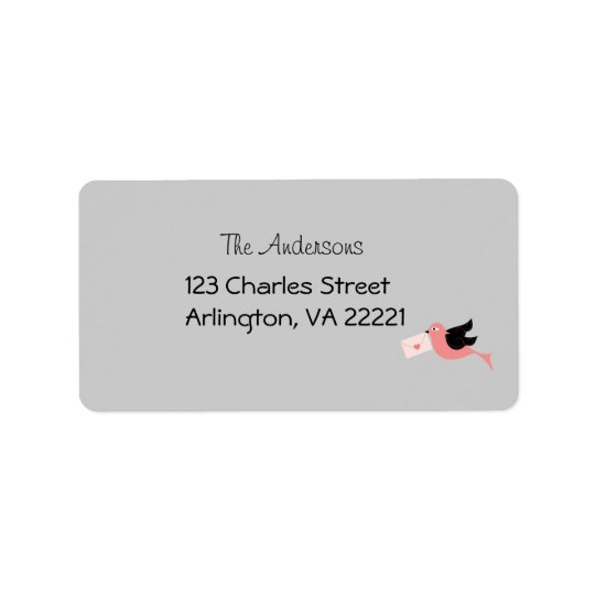 Bird Message Address Labels
