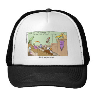 Bird Ministries Funny Religion Cartoon Gifts Tees Trucker Hat