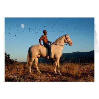 Bird Moon Man Horse card