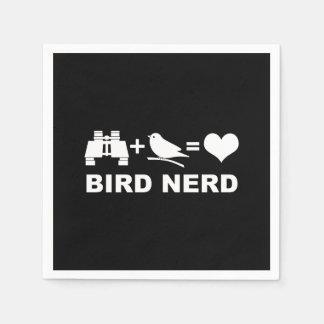 Bird Nerd Birdwatcher Birder Custom Color Disposable Napkin