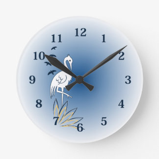 Bird Nerd (Egret) Clock