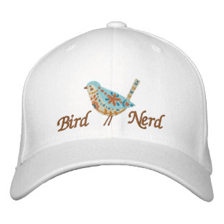 Bird Nerd [Folk Art Bird] Embroidered Hat