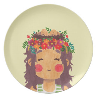 Bird Nest Girl in the Spring Season Dinner Plate