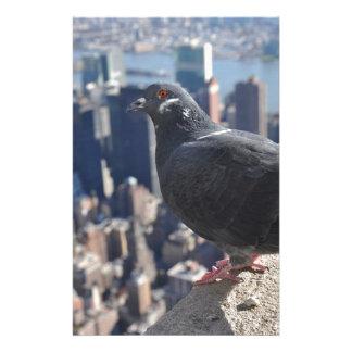 Bird New York City Manhattan Usa Sky Urban Stationery