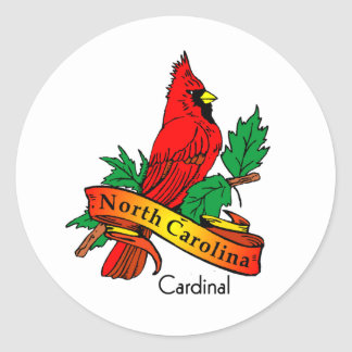 Bird North Carolina Classic Round Sticker
