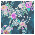 Bird of Hey Floral Watercolor Pattern Fabric