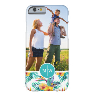 Bird Of Paradise | Add Your Photo & Monogram Barely There iPhone 6 Case