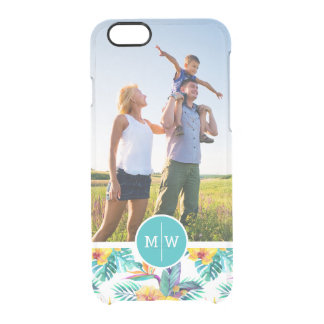 Bird Of Paradise | Add Your Photo & Monogram Clear iPhone 6/6S Case