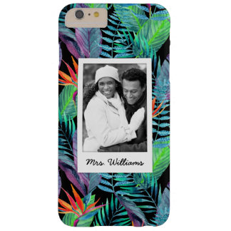 Bird Of Paradise | Add Your Photo & Name Barely There iPhone 6 Plus Case