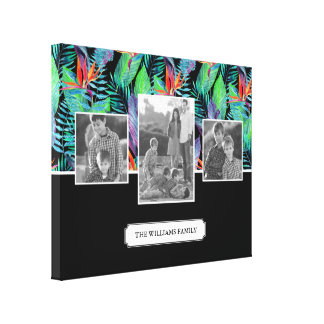 Bird Of Paradise | Add Your Photo & Text Canvas Print
