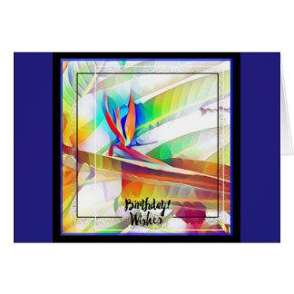 Bird of paradise birthday card