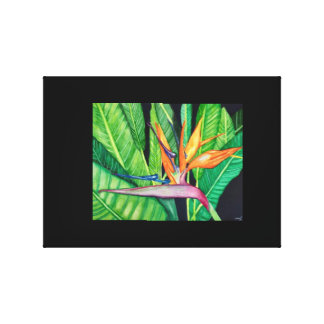 BIRD OF Paradise canvas