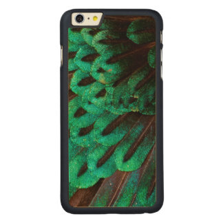 Bird of Paradise feather close-up Carved Maple iPhone 6 Plus Case