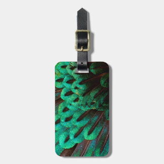 Bird of Paradise feather close-up Luggage Tag