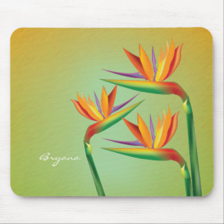 Bird of Paradise Floral Tropical Mouse Pad