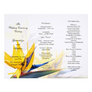 Bird of Paradise Floral Wedding Program Template