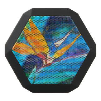 bird of paradise flower black bluetooth speaker
