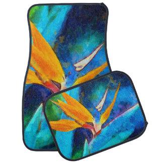 bird of paradise flower car mat