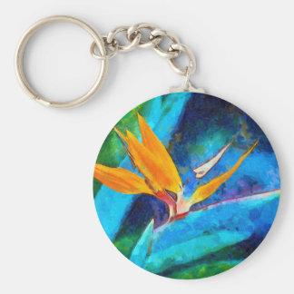 bird of paradise flower keychain