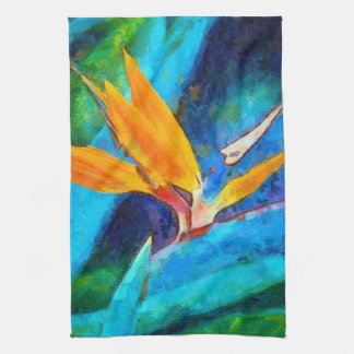 bird of paradise flower kitchen towel