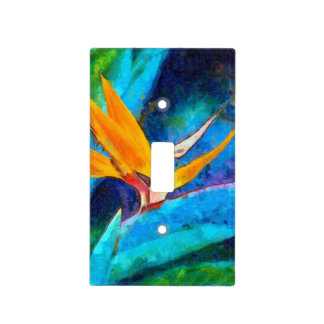 bird of paradise flower light switch cover