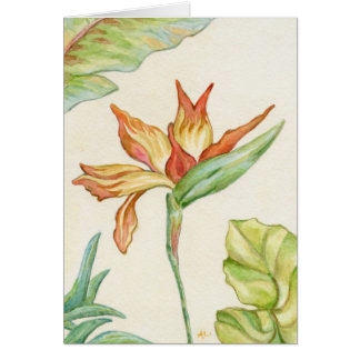 Bird of Paradise Flower Notecard