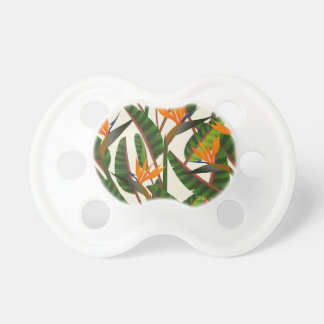 Bird Of Paradise Flower Pattern Baby Pacifiers