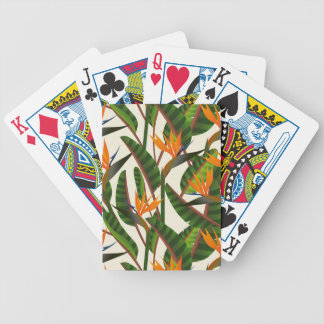 Bird Of Paradise Flower Pattern Bicycle Playing Cards