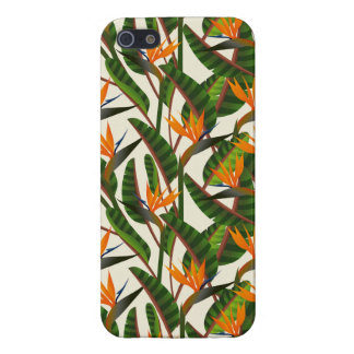 Bird Of Paradise Flower Pattern iPhone 5 Case