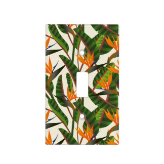 Bird Of Paradise Flower Pattern Light Switch Cover