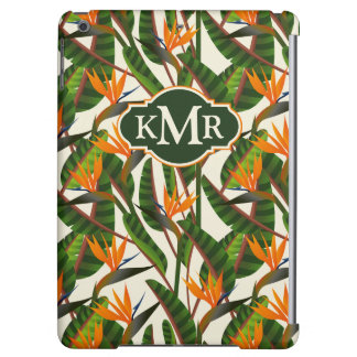 Bird Of Paradise Flower Pattern | Monogram iPad Air Cover