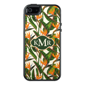 Bird Of Paradise Flower Pattern | Monogram OtterBox iPhone 5/5s/SE Case