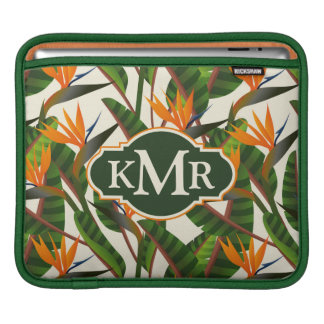 Bird Of Paradise Flower Pattern | Monogram Sleeve For iPads