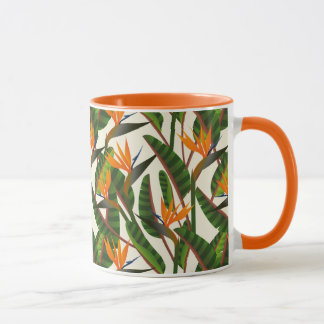 Bird Of Paradise Flower Pattern Mug
